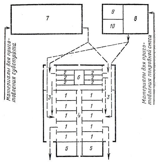 Примерный план шампиньонного